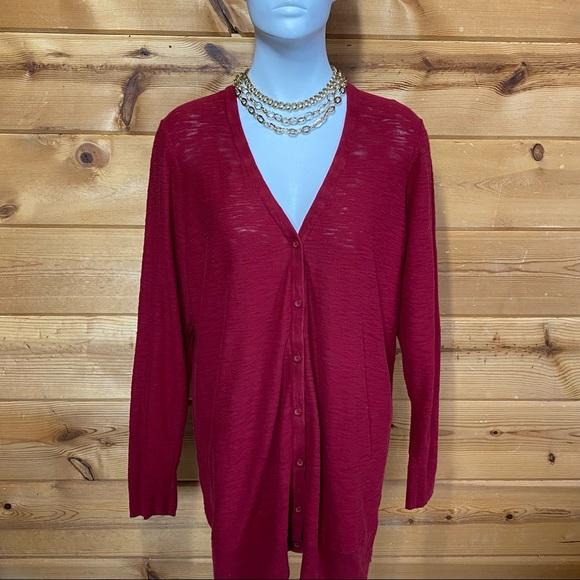 Maroon red burgundy cardigan sweater button torrid